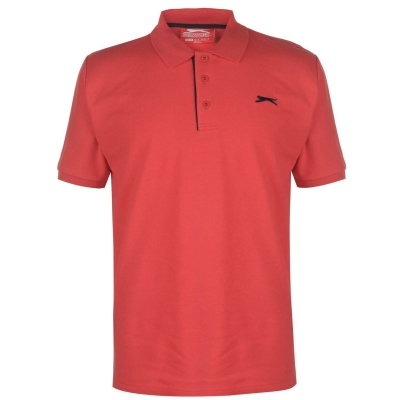 Tricouri polo simple Slazenger pentru Barbati rosu