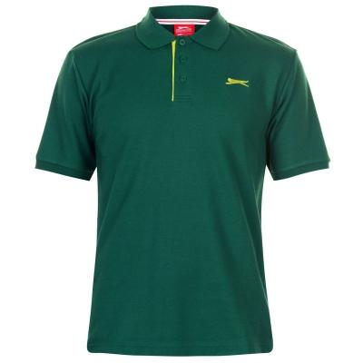 Tricouri polo simple Slazenger pentru Barbati inchis verde