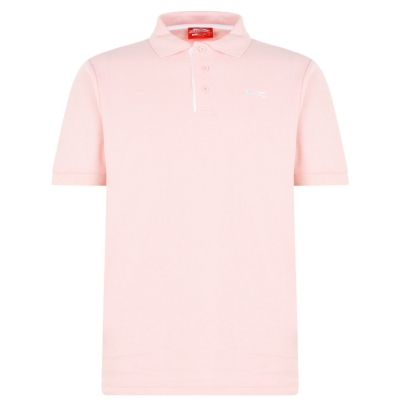 Tricouri polo simple Slazenger pentru Barbati deschis roz