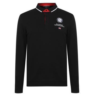 Tricouri Polo Slazenger cu Maneca Lunga Sport pentru Barbati negru