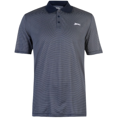 Tricouri Polo Slazenger Micro cu dungi Golf pentru Barbati bleumarin