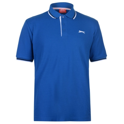 Tricouri Polo Slazenger Tipped pentru Barbati albastru roial