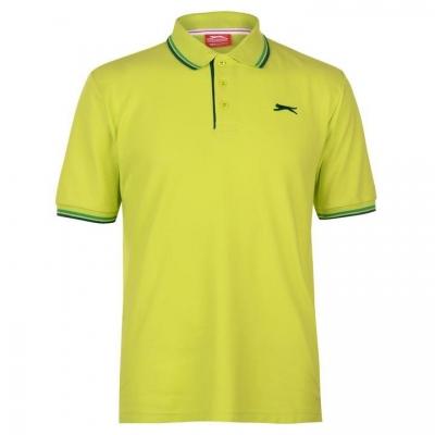 Tricouri Polo Slazenger Tipped pentru Barbati verde lime