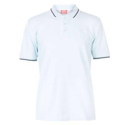 Tricouri Polo Slazenger Tipped pentru Barbati deschis albastru