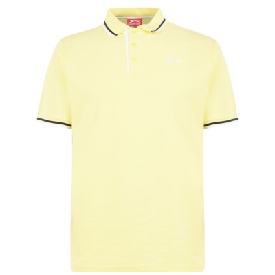 Tricouri Polo Slazenger Tipped pentru Barbati deschis galben