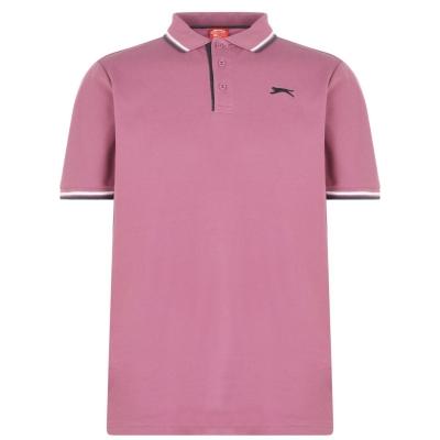 Tricouri Polo Slazenger Tipped pentru Barbati inchis roz