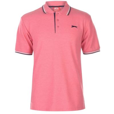 Tricouri Polo Slazenger Tipped pentru Barbati inchis roz gri