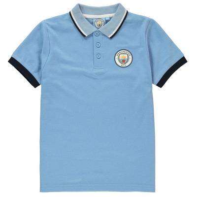 Tricouri Polo Source Lab Manchester City FC pentru baietei albastru