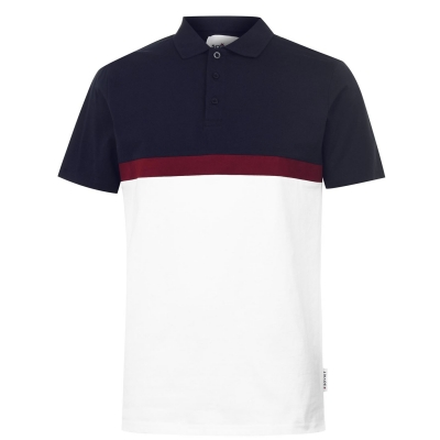 Tricouri Polo Soviet Block pentru Barbati bleumarin alb