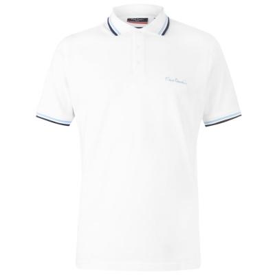 Tricouri Polo Pierre Cardin Tipped pentru Barbati alb