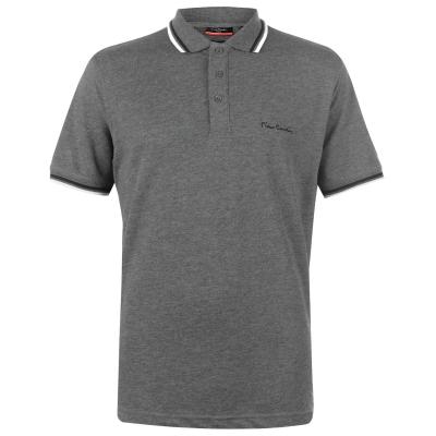 Tricouri Polo Pierre Cardin Tipped pentru Barbati gri carbune