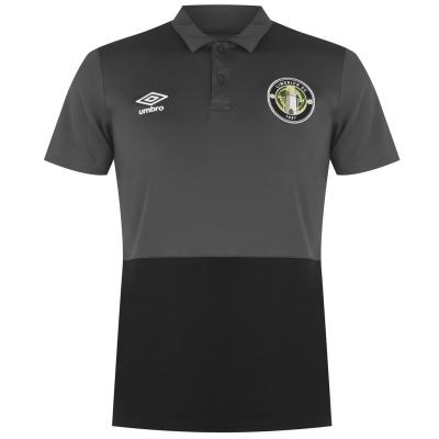 Tricouri polo Tricou Umbro Limerick pentru Barbati negru gri carbon