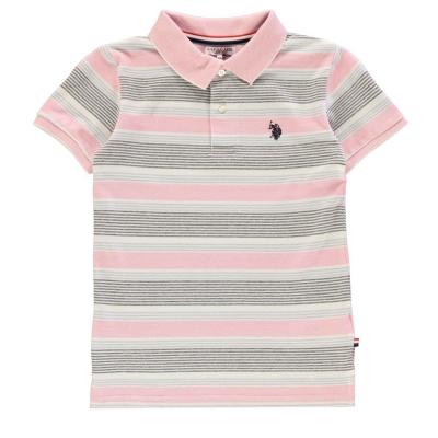 Tricouri polo Tricouri Polo US Assn Oxford cu dungi prism roz
