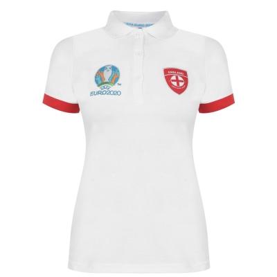 Tricouri Polo UEFA Euro 2020 Anglia pentru Femei alb
