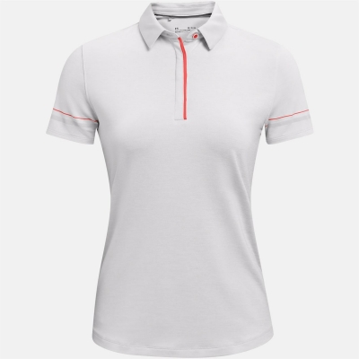 Tricouri Polo Under Armour cu Maneca Scurta Heather pentru Femei alb
