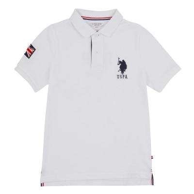 Tricouri polo US Assn US Association GBR Player bright alb