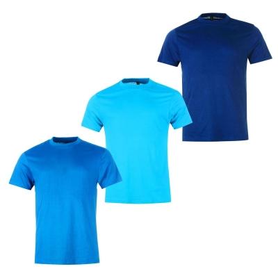 Tricouri Set de 3 Donnay pentru Barbati bleu turcoaz albastru inchis