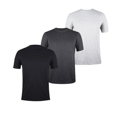 Tricouri Set de 3 Donnay pentru Barbati gri charm negru
