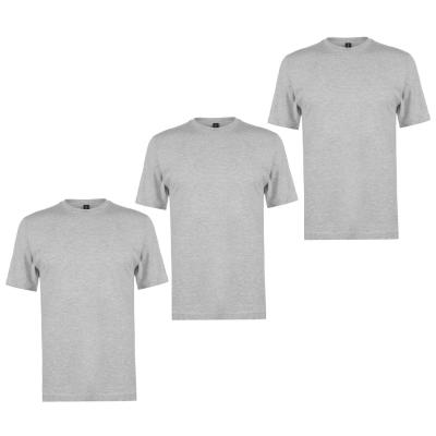 Tricouri Set de 3 Donnay pentru Barbati gri m