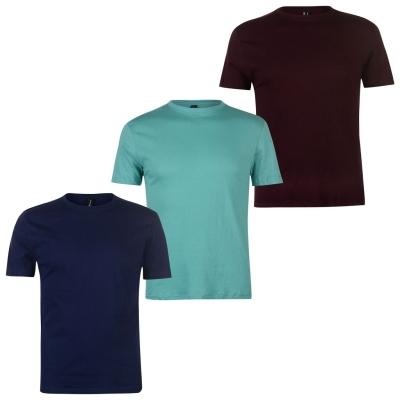 Tricouri Set de 3 Donnay pentru Barbati mov pruna albastru aqua