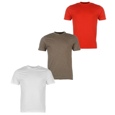 Tricouri Set de 3 Donnay pentru Barbati rosu gri alb