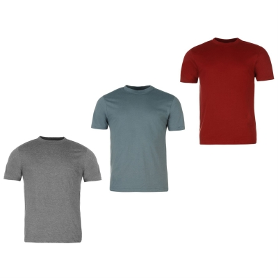 Tricouri Set de 3 Donnay pentru Barbati visiniu stblu gri
