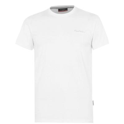 Tricouri simple sport Pierre Cardin pentru Barbati alb