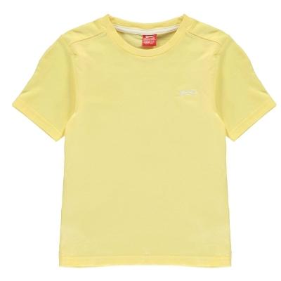 Tricouri simple sport Slazenger pentru baietei deschis galben