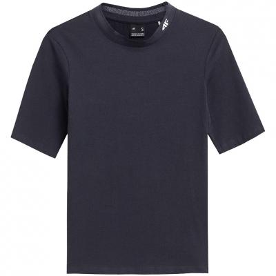 Tricouri sport 4F bleumarin inchis H4Z21 TSD013 30S pentru femei