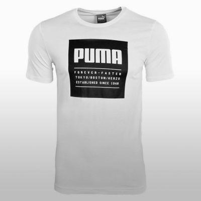 Tricouri bumbac sport Puma Barbati alb