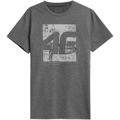 Tricouri sport Male  4F Medium gri Melange H4Z21 TSM013 24M