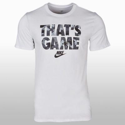 Tricou bumbac alb cu imprimeu Nike That's Game Barbati