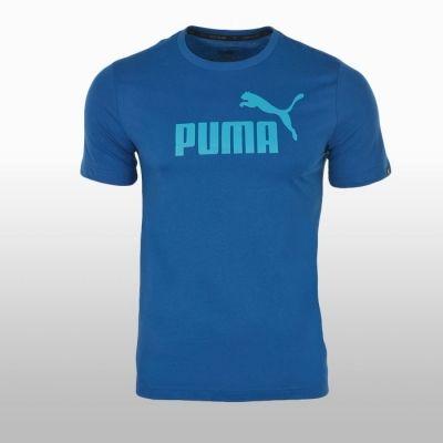 Tricou bumbac albastru sport Puma Ess No.1 Barbati