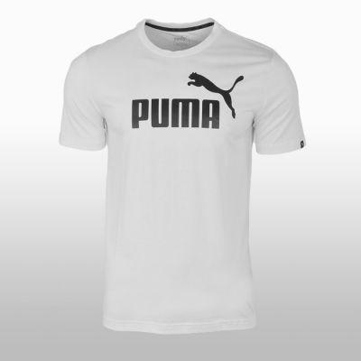 Tricouri sport bumbac alb Puma Ess No.1 Tee Barbati