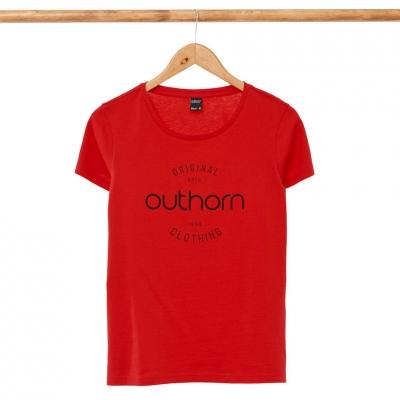 Tricouri sport rosu Outhorn HOL21 TSD606A 62S pentru femei