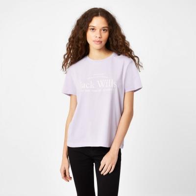 Tricouri sport Tricou cu logo Jack Wills Forstal Boyfriend - lila
