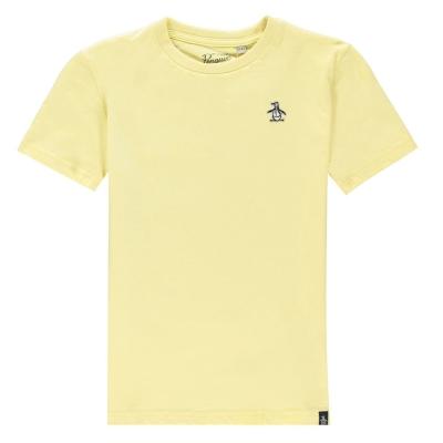 Tricouri sport Tricou cu logo Original Penguin clasic - portocaliu slice