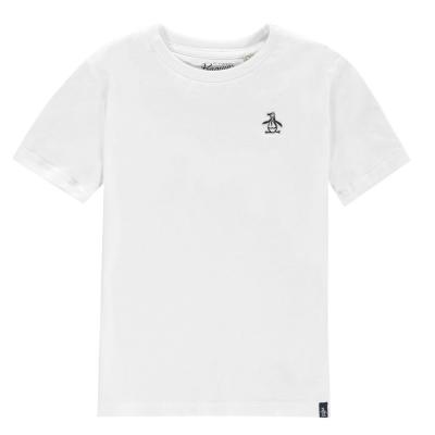 Tricouri sport Tricou cu logo Original Penguin clasic - brigt alb