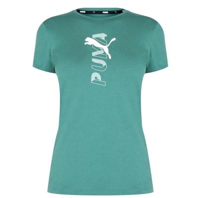 Tricouri sport Tricou cu logo Puma Central - pentru Femei albastru verde