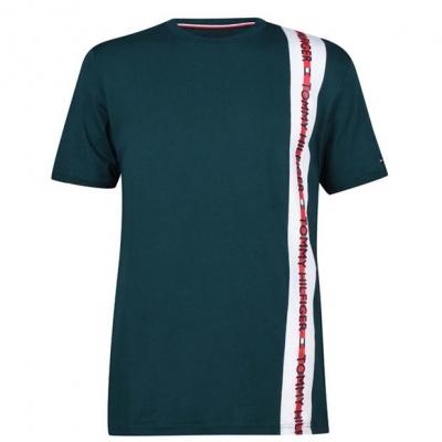 Tricouri Tommy Bodywear cu dungi verde mch