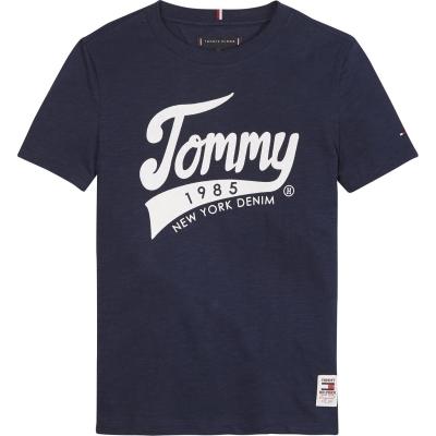 Tricouri Tommy Hilfiger 1985 pentru baietei negru mov