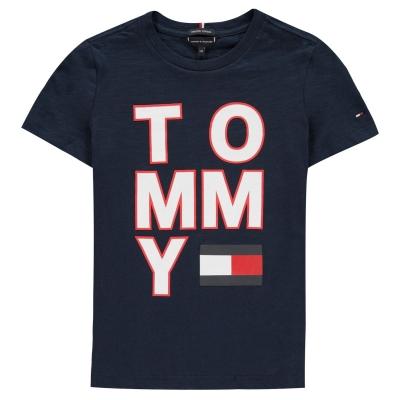 Tricouri Tommy Hilfiger Multi pentru baietei negru mov