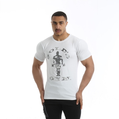 Tricouri cu imprimeu Golds sala pentru Barbati alb