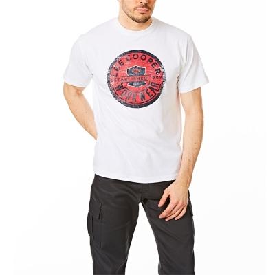 Tricou Lee Cooper Workwear imprimeu Graphic pentru Barbati alb