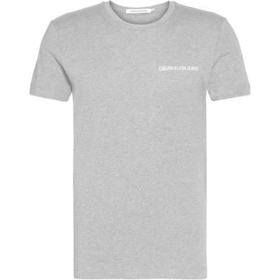 Tricouri Tricou cu logo Calvin Klein Jeans - gri deschis