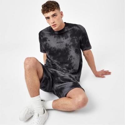 Tricouri Tricou cu logo Jack Wills imprimeu Graphic - negru tie dye