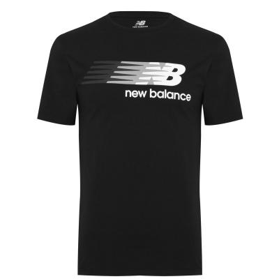 Tricou cu imprimeu New Balance Flying pentru Barbati negru