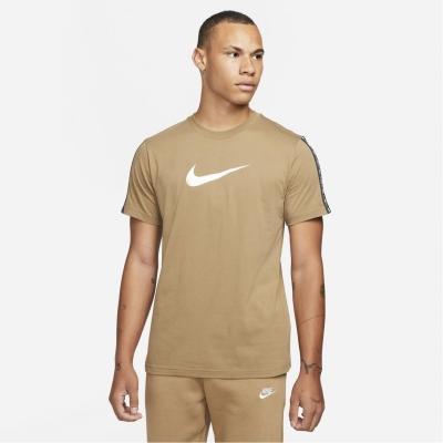 Tricouri Tricou cu logo Nike Repeat - pentru Barbati maro bej