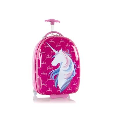 Troler Calatorie Abs Copii,heys,unicorn,roz, 46 Cm