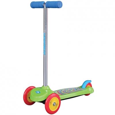 Trotinete trei-wheeled Schildkrot Little verde 510391 pentru Copii